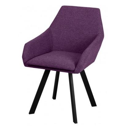 Кресло Тук микрофибра фиолетовая