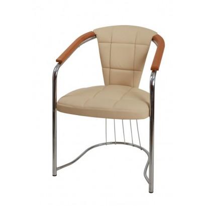 Стул кресло Соната кофорт Хром, кож/зам Экотекс 3014, бук
