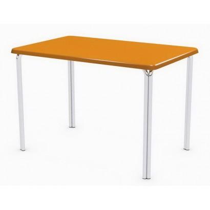Стол прямоугольный 110x70 Дуолит Э105 на подстолье Квадро-2 Люкс