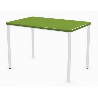 Стол прямоугольный 110x70 Дуолит Э601 на подстолье Обвязка хром