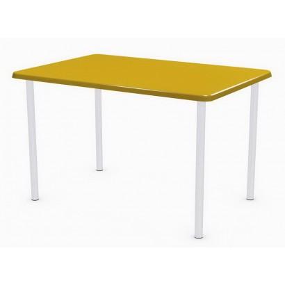 Стол прямоугольный 120х80 Э103 на подстолье Обвязка хром