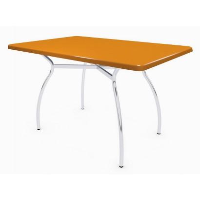 Стол прямоугольный 120х80 Дуолит Э105 на подстолье Тирамису-2 хром