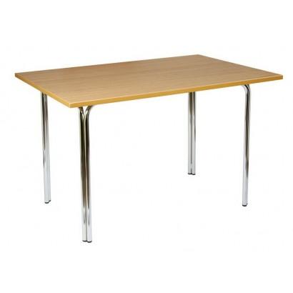 Прямоугольный стол 120х80 Дуб светлый на подстолье Квадро люкс