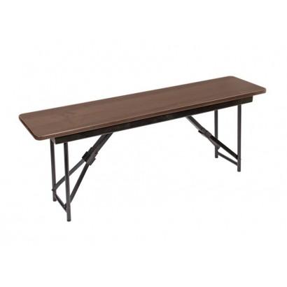 Складная скамейка СК-050 1500х300х450 орех каркас черный глянец