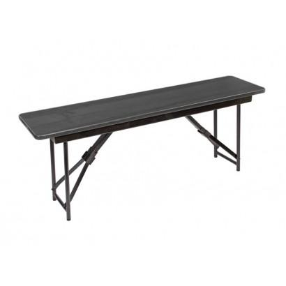Складная скамейка СК-040 1200х300х450 венге каркас черный глянец
