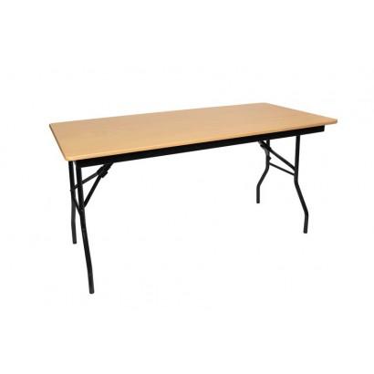 Складной стол С-101 бук каркас чёрный муар