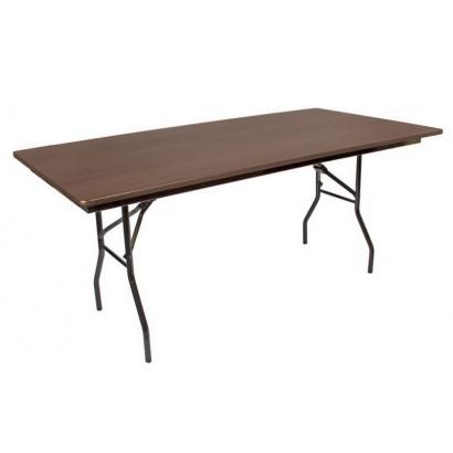 Складной банкетный стол 1800х900 орех чёрный