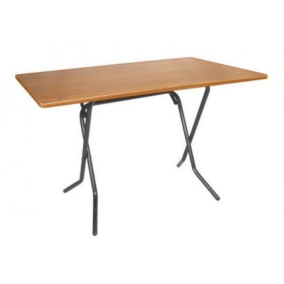 Складной  обеденный стол С-103-01 вишня каркас черный глянец
