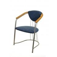 Стул кресло Соната синий флок