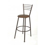 Барный стул Джокер антик медь, коричневый кож/зам