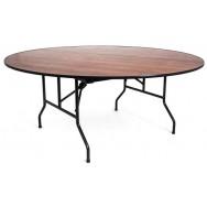 Складной круглый банкетный стол С-108 d1800 мм орех