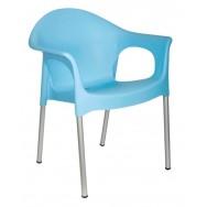 Кресло Лиза полипропиленовое с интегрированными алюминиевыми ножками