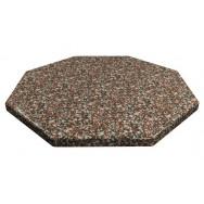 Столешница дуолит восьмигранник 100х100 камень