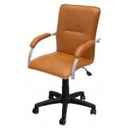 Кресло Самба лифт кож/зам Экотекс 3055 оранжевый глянцевый