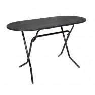 Складной овальный обеденный стол  С-103 венге каркас черный глянец