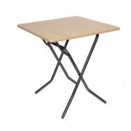 Складной обеденный стол 700х700 С-104-01 бук каркас черный глянец