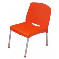 Стул Страйк полипропиленовый с интегрированными алюминиевыми ножками оранжевый
