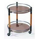 Сервировочный столик С-3 черный / орех / бронзовое