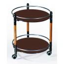 Сервировочный столик С-3 черный / орех / шоколад