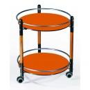 Сервировочный столик С-3 черный / орех / терракот