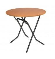 Складной круглый стол d80 см
